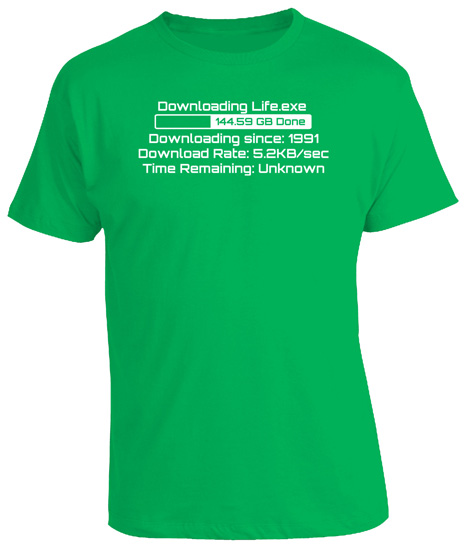 25th-Birthday-Gift-Present-Downloading-Geeky-New-Tshirt