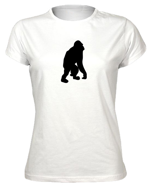 Gorilla-Silhouette-Arty-Trendy-Cool-Stylish-Design-T-Shirt-Tee-New