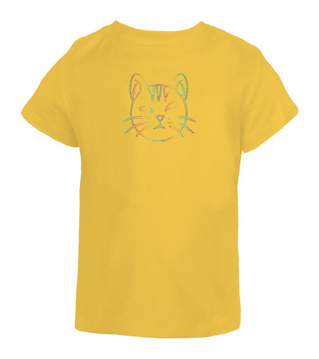 Pussy-1-Cat-Face-Cute-Animal-Cool-Unique-Novelty-Gift-Rhinestone-Diamante-TShirt